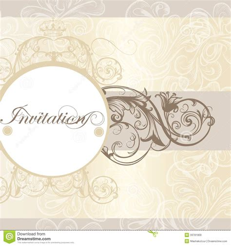 classic invitation card template wedding invitation card for design stock vector