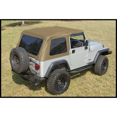08 Jeep Wrangler Soft Top Jeep Parts Buy Rugged Ridge Xhd Bowless Soft Top In Spice