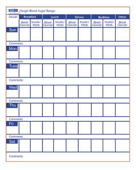 blood sugar log book template free printable blood sugar log free planning