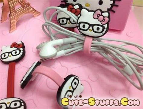 Cable Cord Holder Rilakkuma Hello Kity Centimental Circus Pengikatjepit Kabel Pembatas Buku Kawaii 2 Pc Cord Holder Glasses Hello