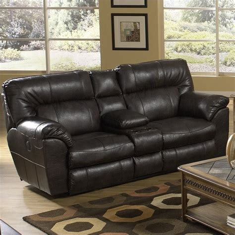 Catnapper Leather Reclining Sofa Catnapper Nolan Leather Reclining Loveseat In Godiva 4049122329302329