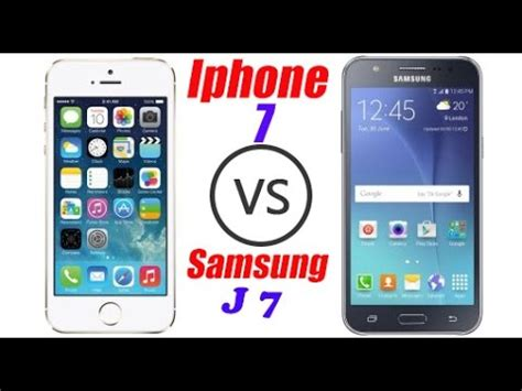 Iphone J7 Apple Iphone 7 Vs Samsung Galaxy J7 J2 J5 Review Compare Urdu