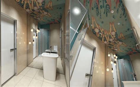 bathroom ceiling art interior design ideas