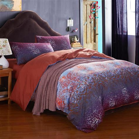 boho bedding sets purple gypsy boho comforter sets needs selection atzine com