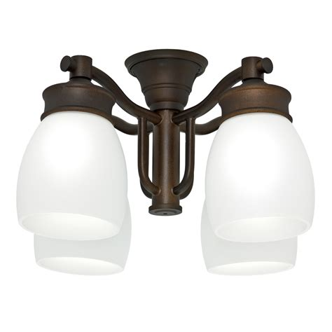 Casablanca Ceiling Fan Light Kits Shop Casablanca 4 Light Maiden Bronze Fluorescent Ceiling Fan Light Kit With Frosted Glass At