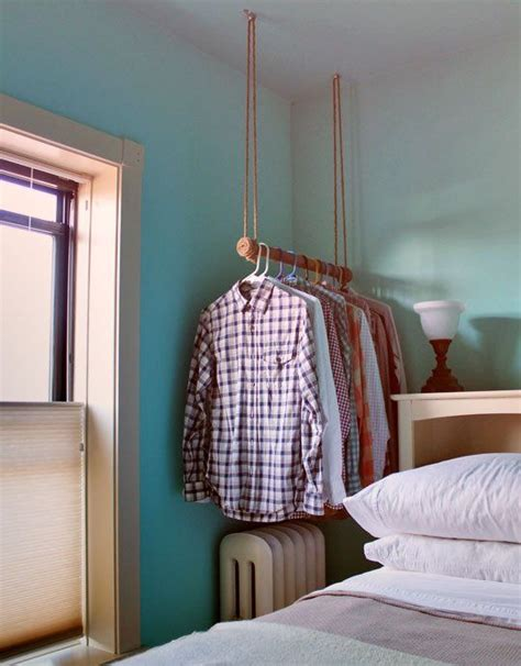 Diy Hanging Clothes Rack by Out Of The Closet How To Make A Rope Wrapped Hanging