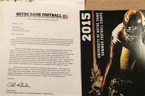 le mulier lettere notre dame apparently sent recruiting letter to current