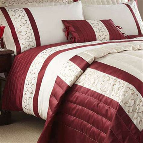 Red Super King Size Duvet Covers Scroll Bed Linen Duvet Sets Bedding Linen4less Co Uk