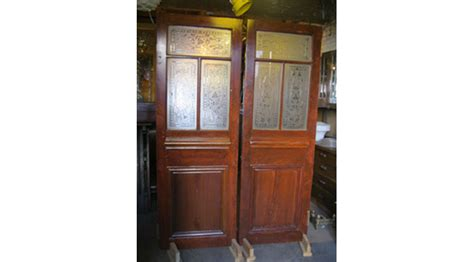 1930s Wheel Cut Glass French Doors City Salvage Cut Glass Doors