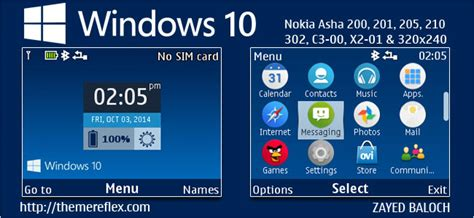 nokia c3 themes windows xp windows 10 live theme for nokia c3 00 x2 01 asha 200
