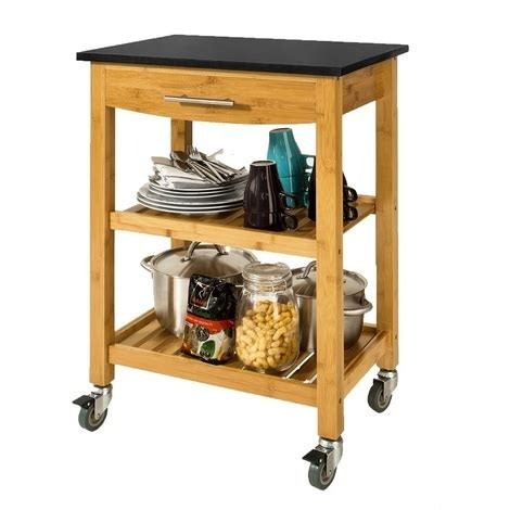 kitchen island trolley interiors online sobuy 174 kitchen storage trolley cart island with black