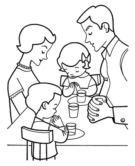 preschool coloring pages about families preschool coloring pages of a family eating dinner