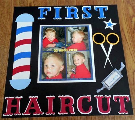 scrapbook layout for first haircut first haircut scrapbook com scrapbook page ideas