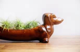 Dachshund Planter vintage ceramic dachshund planter wiener dog kitchen