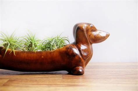 dachshund planter vintage ceramic dachshund planter wiener dog kitchen