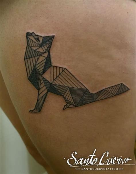 tattoo geometric london geometric fox tattoo by alex alvarado vegan friendly