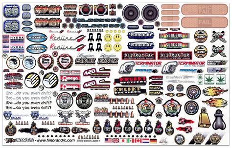 Rc Sponsoren Aufkleber by Firebrand Rc Sponsor Logo Decals Liverc R C Car