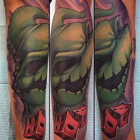oogie boogie tattoo 100 nightmare before tattoos for design ideas