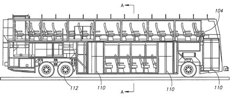 double decker bus floor plan patent us20090224570 low profile doble deck bus google