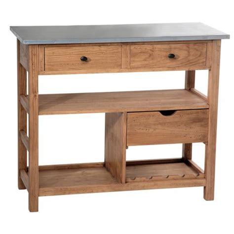 comptoir de famille billot en bois plateau zinc