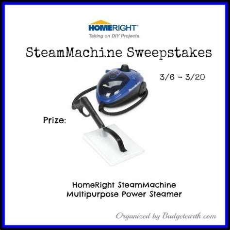 Gift Surplus Sweepstakes Machines - 03 20 14 homeright steammachine sweepstakes