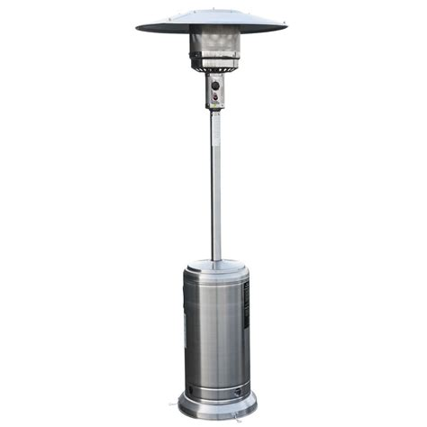Buy Living Outdoor Patio Heater Gas Silver 547711 Living Patio Heater