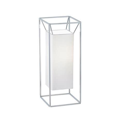 Desk Lamp Diffuser Aldgate Tlwh Chrome Table Lamp With White Cotton Diffuser