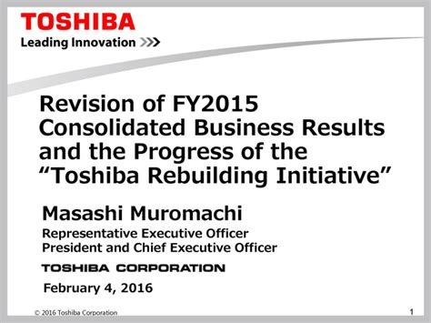 toshiba earnings report toshiba is now 479 4 billion yen in the red according to