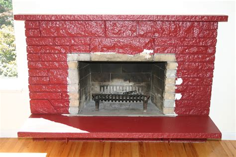 remodelaholic restoring a painted fireplace