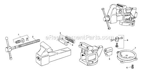rigid bench vise ridgid 6000r parts list and diagram ereplacementparts com