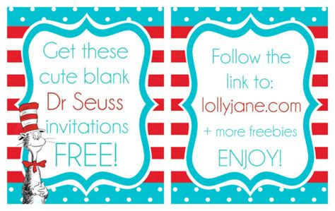 dr seuss invitation template printable dr seuss quotes templates quotesgram