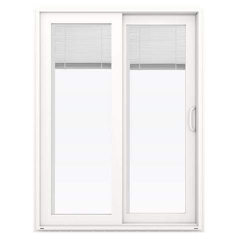 60 x 80 sliding patio door with blinds jeld wen 60 in x 80 in v 4500 white vinyl right