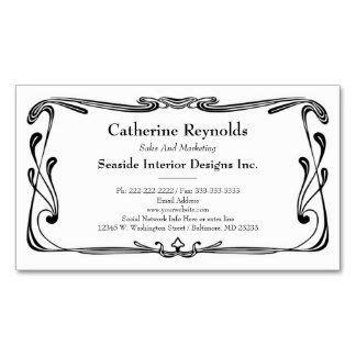 Nouveau Business Card Templates by Nouveau Borders For Business Cards Retro
