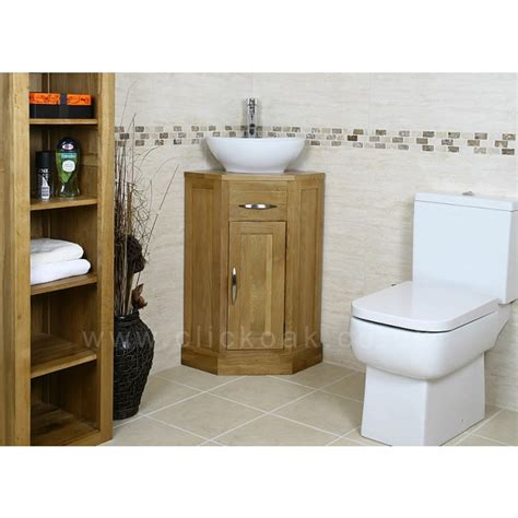 bathroom oak vanity units small compact oak bathroom vanity unit click oak