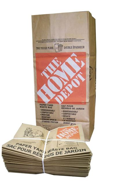 the home depot kraft paper lawn leaf bags 2 ply 25
