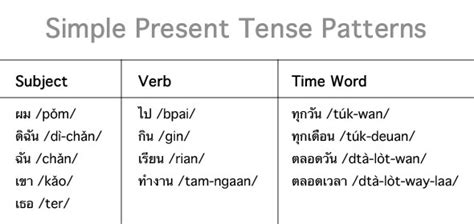 present tense sentence pattern thai language thai culture thai verb wrappers a woman