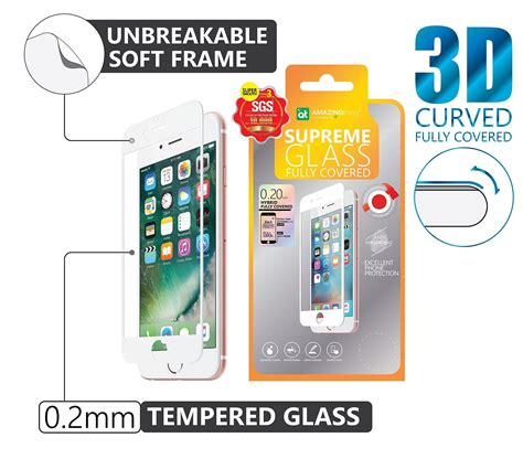 Amazingthing Supreme Glass Iphone 7 033mm Tempered Glass store value pack amazingthing iphone 7 plus gloss white 0 2mm fully covered hybrid