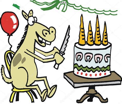 imagenes de feliz cumpleaños con caballos dibujos animados de vector de pastel de cumplea 241 os feliz