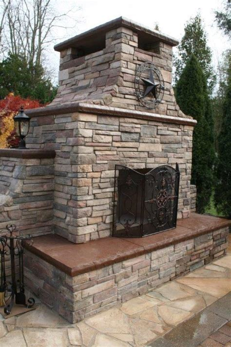 Concrete Outdoor Fireplace by Outdoor Fireplace Installation Services In New Jersey