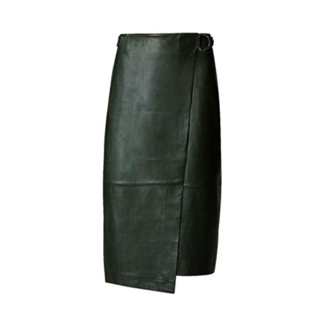 leather belted skirt endource