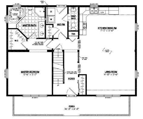 40 x 40 house plans certified homes mountaineer deluxe certified home floor