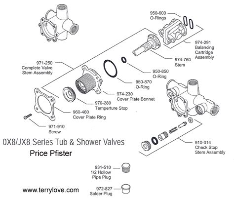 How To Fix A Price Pfister Shower Faucet by Price Pfister Ox8 Shower Trim And Valve Terry