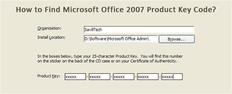 How To Find Microsoft Office Product Key by Office Product How To Find Microsoft Office Product Key 2007
