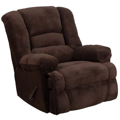 microfiber rocker recliner flash furniture contemporary dynasty chocolate microfiber