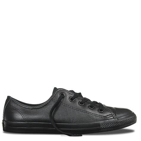 Converse Low Leather chuck all dainty leather low top black mono