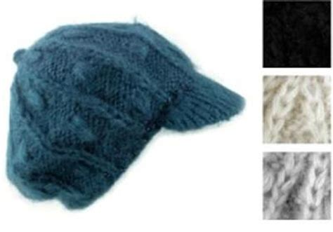 knitted winter hat womens baker boy slouchy cable knit winter hat