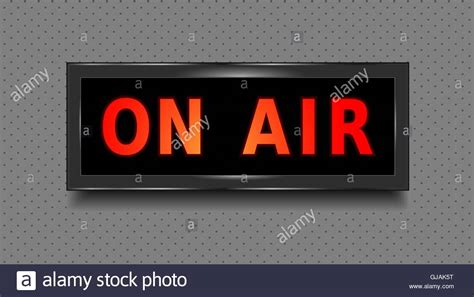 on air sign light on air sign recording studio on air light box isolated