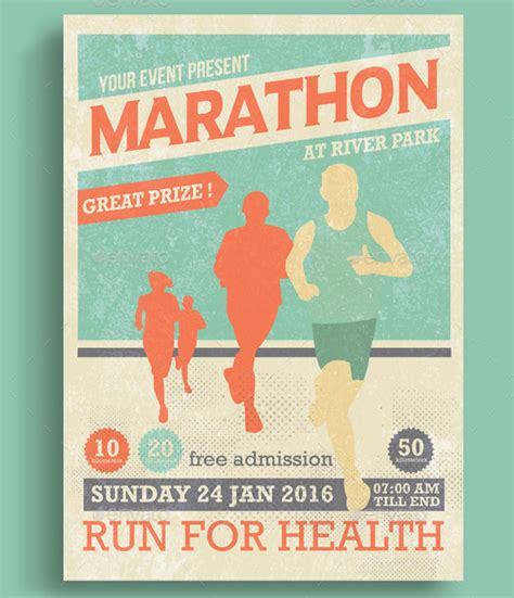 25 Marathon Flyer Templates Free Premium Download Event Poster Templates Free