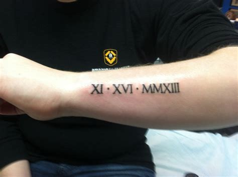 roman numeral forearm tattoo numeral tattoos designs ideas and meaning tattoos
