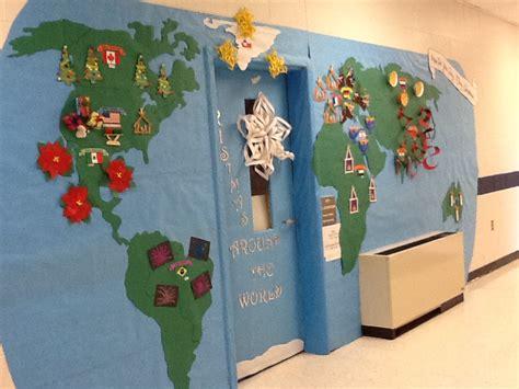 Classroom Door Themes Around The World World Wallpaper by Door Decorating Contest Prek